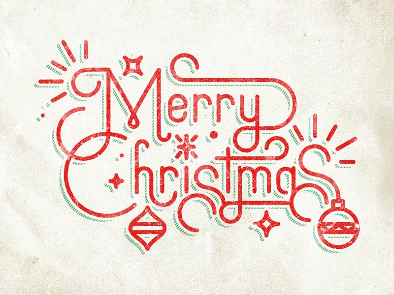 Merry Christmas christmas typography type ornament shine star custom vintage