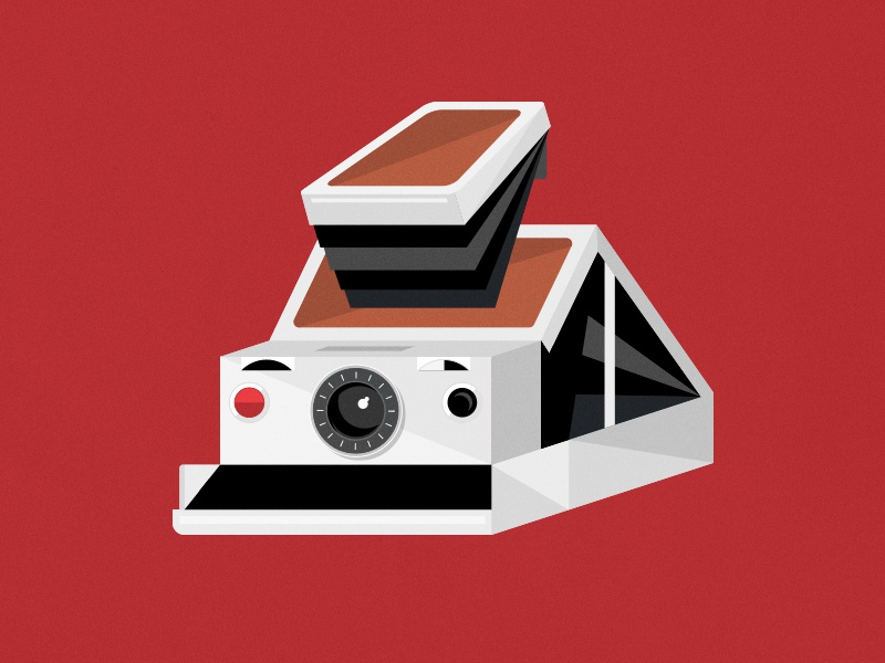 SX-70 vintage lens flat illustration camera polaroid sx70 sx-70