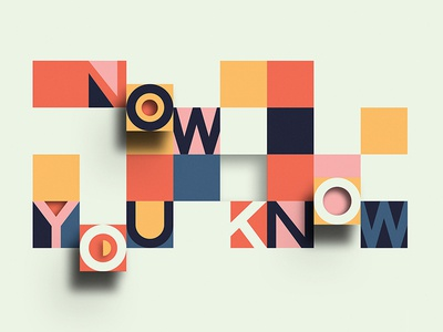 Now You Know church series sermon lift 3d square grid typography type