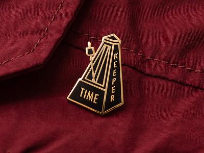 Timekeeper rhythm enamel bpm beat product pin time metronome