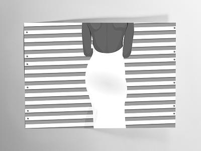 Shades of Gray Lady graphic design illustration back woman shades of gray monotone
