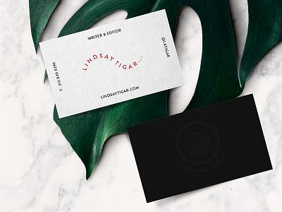 Writer Editor Identity letterpress monstera marble business card logo tiger identity editor writer