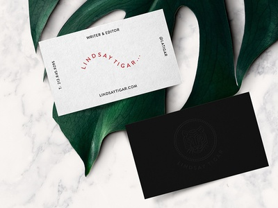 Writer Editor Identity letterpress monstera marble business card logo tiger identity editor writer