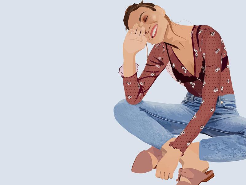 Swiss dot vector design illustrator beautiful woman fashion woman graphic design illustration