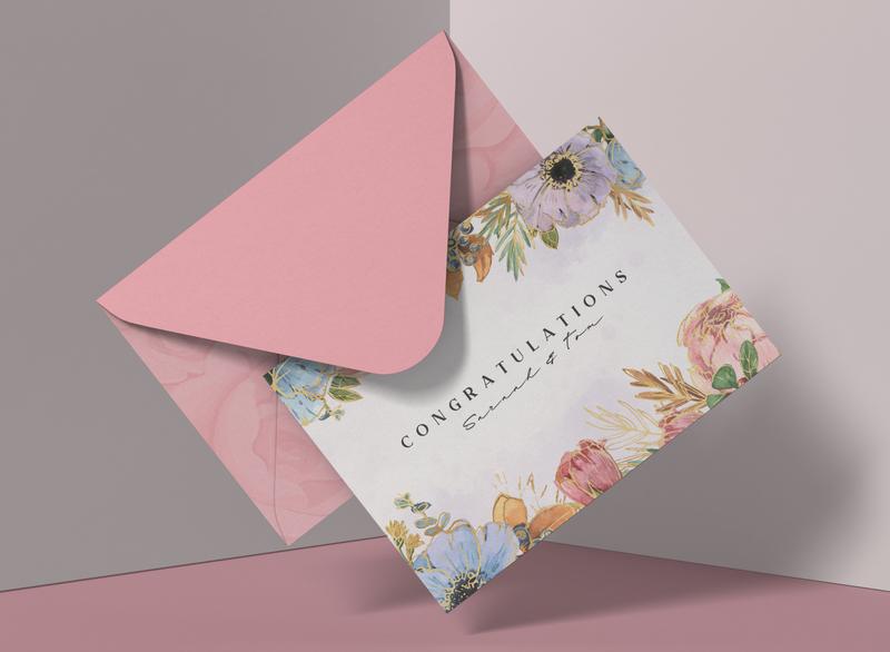 Wedding Congratulations graphic design design greeting card congratulations wedding