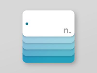 Logo for word card app