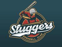 Sluggers Baseball club logo