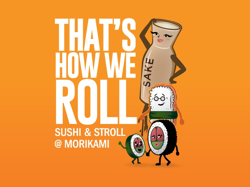 That's how we roll illustration cute sushi character character design character old man japanese asian sushi