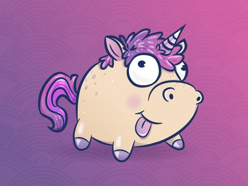Derpy Unicorn vector horse illustration girly character illustration cute horse funny derpy unicorn
