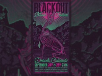 Blackout Music Festival Gig Poster