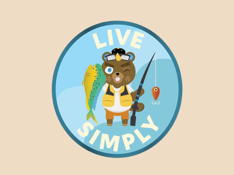 Animal Crossing Sticker fish fishing animal sticker videogame vector design illustration