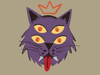 Monsterpedia Creature eyes four illustration purple scary kitty cat monsterpedia monster