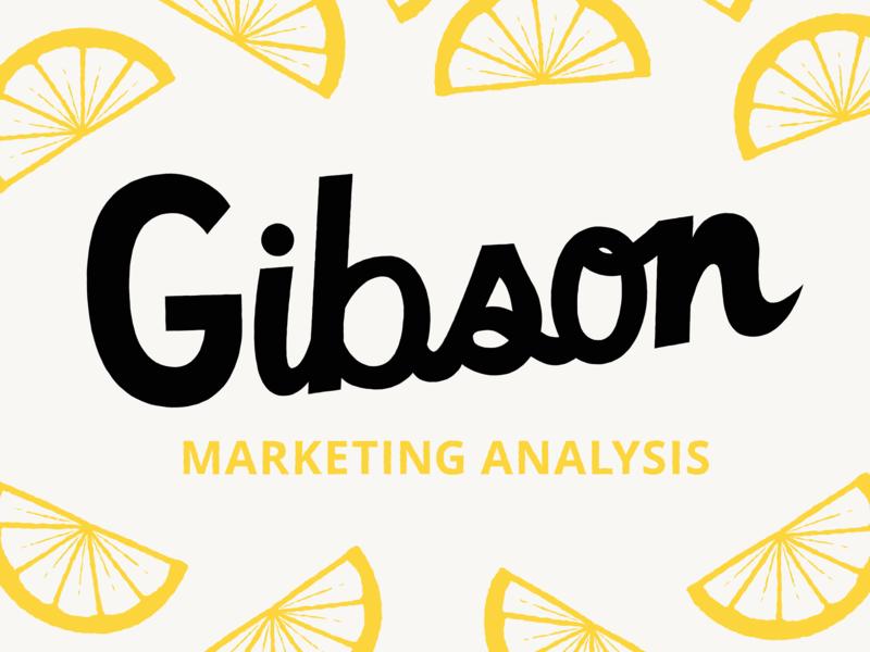 Gibson identity marketing yellow lemon branding agency branding logotype logo design