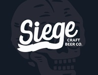 Siege craftbeer skull logo beer brand design branding brand illustration design