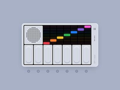 OP-1 mini interactive piano framer keyboard op-1