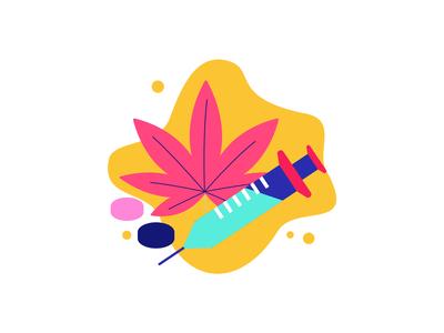 Cannabis on Syringe