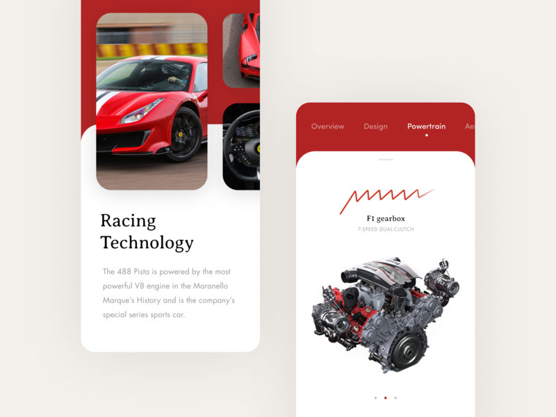 488 Pista typography iphone x ios card racing cars 488 ferrari