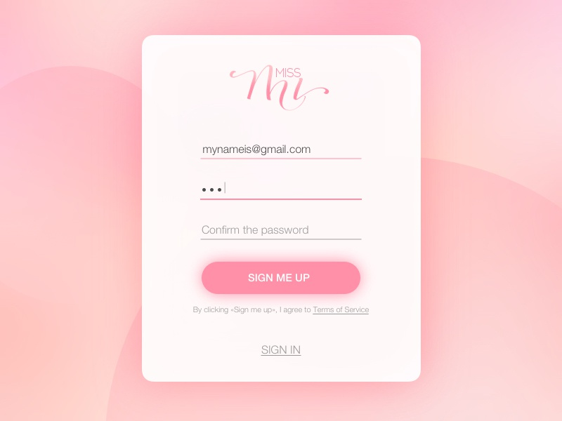 Daily UI #001 — Sign up form dailyui001 challenge daily ui ui design dailyui sign in sign up design web ux ui