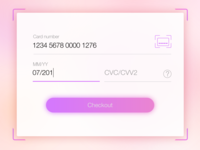 Daily UI #002 — Credit Card Checkout