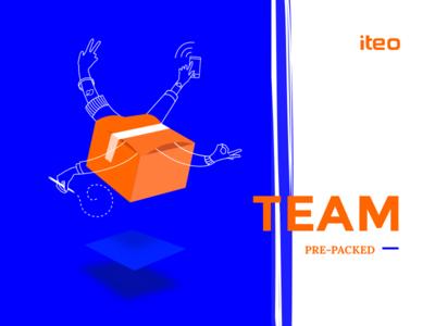 Team pre-packed :D team outline iteoapps iteo illustation brush