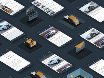 Autoplus pattern iteo iteoteam car automotive ios screens isometric pattern app illustration autoplus