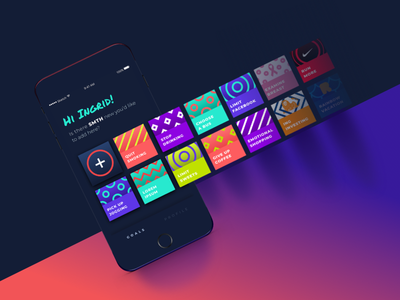 SMTH | iOS App shapes pattern motion mobile lifestyle iteo ios interaction hackaton colors app android