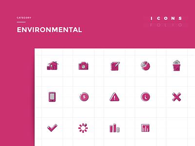 IconsFolio | Environmental vector pollution smog iteo icons design icon home geometric flat app