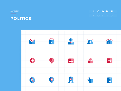 IconsFolio | Politics vector politics iteo icons icon home geometric flat design app