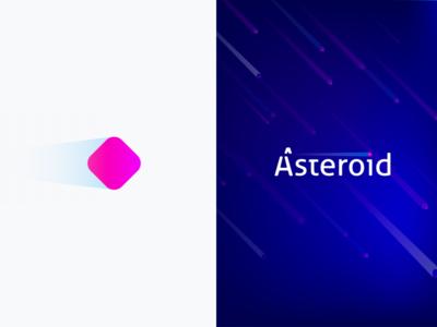 Logofolio | Asteroid meteor vector id asteroid logo iteo flat colors branding