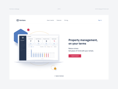 Hemlane ux typography ui custom branding website icons iteo app animation logo