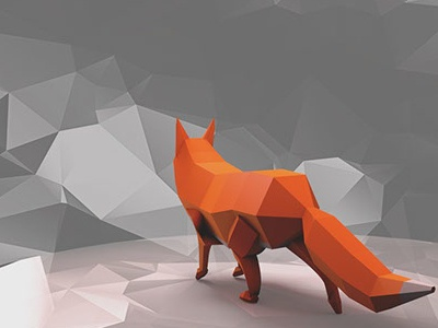 Low poly Fox digitalart graphic cartoon isometric motiondesigh 3d render cinema4d lowpoly poly low