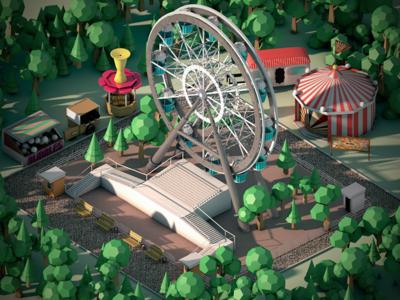 Theme Park Isometric