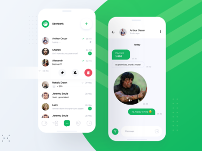 Chat UI for Sberbank