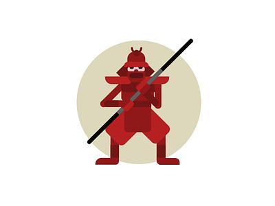 SCRUMURAI agile vector military bushido warrior samurai scrum flat japan character illustration