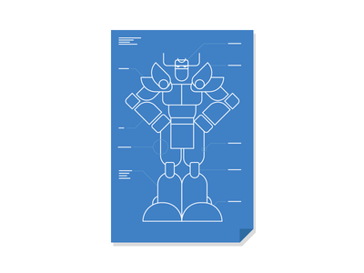 How to build a Gundam style robot in 3 easy steps. instructions ai poster flat drawing line character illustration blueprint robot