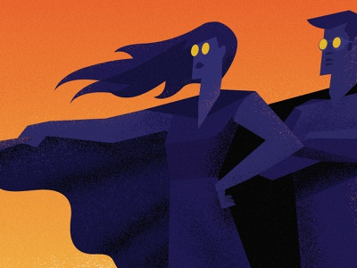 Heroes woman female equality characters ad job flat graphic super hero hero illustration