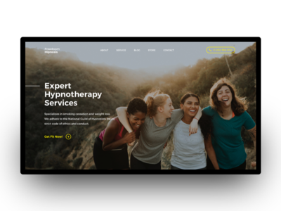 Therapy Service Website Header