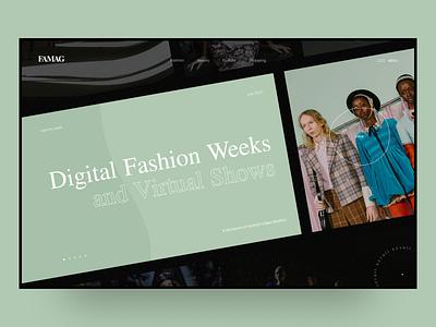 Famag – online magazine concept news fashion slider web typography photos concept ux ui design