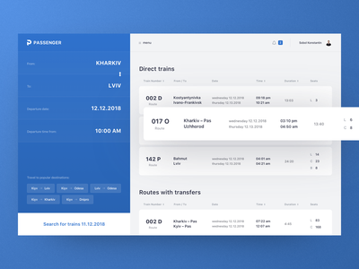 Passenger – Online reservation and purchase tickets ticket booking booking tickets concept web design ux ui