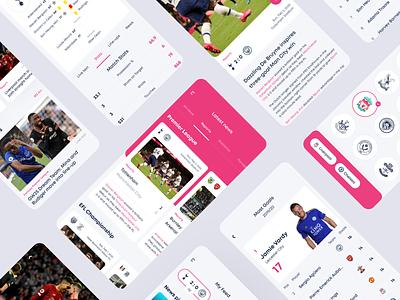 English Premier League app sport app mobile app mobile football news photos typography concept ux ui design