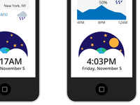 Modernist iOS weather app