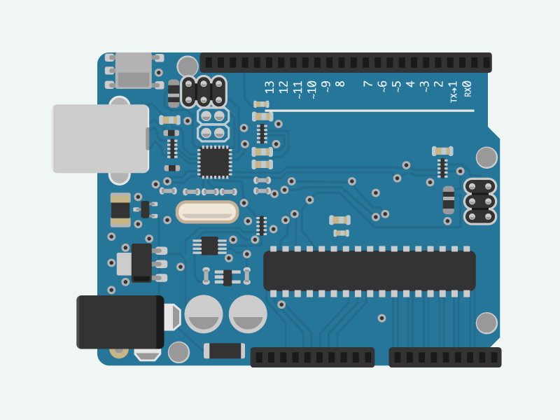 Arduino uno circuit board by luke chamberlin dribbble