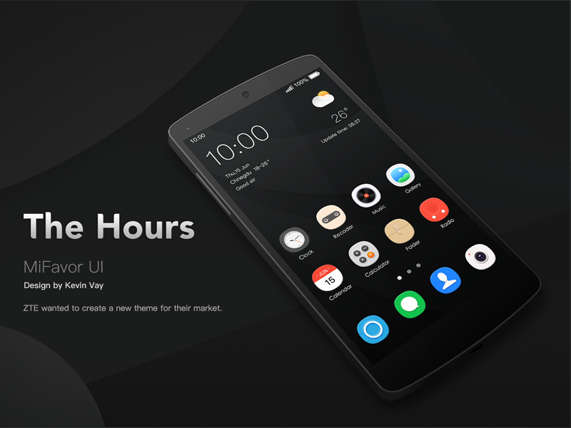The Hours for ZTE personality theme