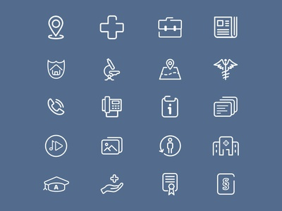 Healthcare Line Icons line icons iconfont clinic healthcare icon