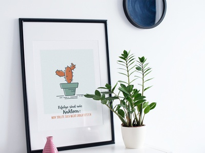 Cactus Print Illustration coloured icons livingroom frame icon illustration cactus