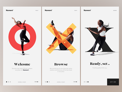 Onboarding Art Direction  cards app sportswear sketch product ui ux mobile onboarding