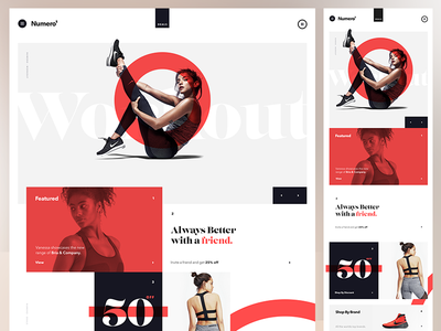 Desktop & Tablet Exploration web typography product sport ipad layout red sketch ux ui desktop responsive