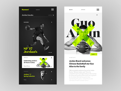 Search Art Direction design typography ux ui sport sketch product article mobile cards app