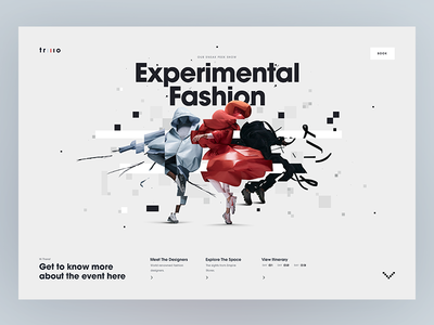 Experimental Fashion Concept  web  ux  ui  typography  responsive  fashion  glitch  desktop  design  campaign app