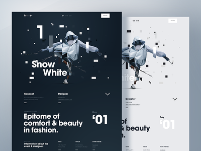 Fashion Details Page  web  ux  ui  typography  responsive  glitch  fashion desktop  design  campaign app